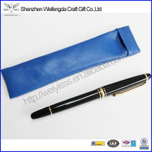 Fashion Design Soft Genuine Cow Leather Pouch For Pens