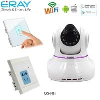 New design smart home automation gsm alarm security alarm system ptz wifi wireless ip camera alarm add home appliance control