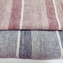 cotton/linen yarn dyed stripe woven fabric
