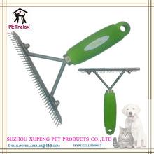 ( l) pr80050 2014 más nuevo estilo de la moda de colores manejar opcional el pelo de perro peine hoja contra las pulgas y piojos