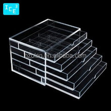 acrylic cosmetic makeup organizer drawer acrylic cosmetic display jewelry display case