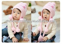 knit children hat with earflap