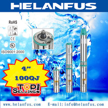 "4""100QJ stainless steel 0.5hp submersible water pump"