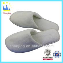 white coral fleece non-disposable hotel slippers