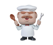 Swedish Chef Action Figure toys,Customized action figure toys vinyl chef model,Customized plastic action figure design