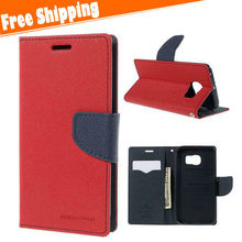 For Samsung galaxy S6 edge Luxury Flip Cover Stand Wallet Leather Case