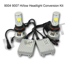 Popular 6400lm high power 9004 9007 led car auto motorcycle headlights high low beam