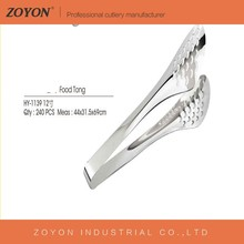 Eco-Friendly stainless steel silicone food tongs