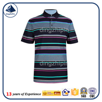 Vogue colorful striped polo t-shirt men