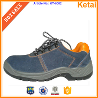 Cow suede leather Sport work boot, hiking safety shoes, outdoor safety footwear