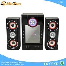 2013 new model speaker 2.1 in computer with fm radio,usb port,sd slot
