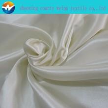 Cheap white stretch dress satin fabric