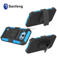 PC Silicone Rubberized Belt Clip Stand Cell Phone Cases For Samsung Galaxy S6 Active/G890