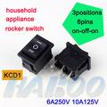 electrodomésticos kcd1 en- apagado-encendido electrónica interruptor 3 posiciones 6 pines 250v t85 mini barco interruptor