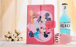 popular cartoon Micky Mouse and Daisy Duck Soft pu leather Case universal for 7'' tablet case
