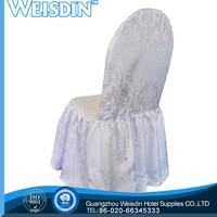 Weisdin fashional glitter spandex folding chair cover for table linens and chair covers