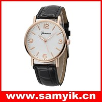 Geneva fashion leather watch bestselling ladies watches quartz watches in stock