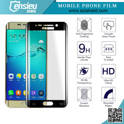 New Products Perfect Design For Samsung Galaxy S6 Full Cover Tempered Glass Screen Protector Black/White Available
