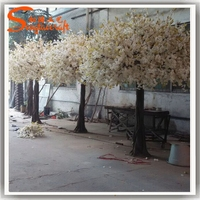 Plastic white artificial cherry blossom tree wedding decoration export to Jordan