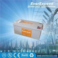 UL certificated gel deep cycle solar power storage battery