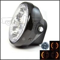 BJ-HL-008 Manufacture ATV scooter 35W 26 LED amber round bajaj ct100 motorcycle headlight