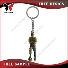 Sport souvenir gold smurf keychain