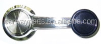 CW-CC-0265 CHROME+BLACK KNOB R=L FOR CHEVROLET TRUCK /CHEVELLE 69-72 /CAMARO 68-70 WINDOW HANDLE