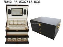 Matte Wood Travel Drawer Gift Packaging Jewelry Set Box Display Case W242