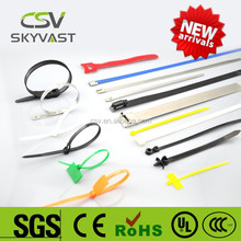 Free sample zip tie self lock plastic tie white black nylon assorted colors cable ties