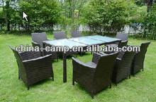 9pcs KD rattan/wicker dining table chair