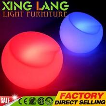 Christmas exhibition Unique RGB colors changing Unique RGB colors changing LED bar stool