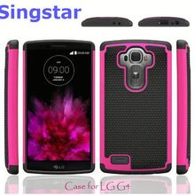 Shockproof Heavy Duty Tough Hybrid Rubber Silicone TPU Football Skin Back Cover Hard Case for LG G Vista