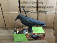 Plastic black crow for garden decoration