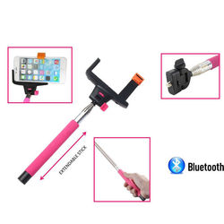 Promotional cheap custom wireless selfie stick With Bluetooth Remote Shutter