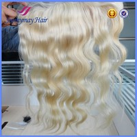 """14"""" 613 blonde lace frontal body wave Russian virgin hair ear to ear lace frontal hair pieces"""