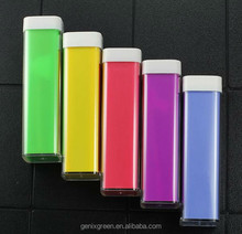2600 mAh Power banks USB Lipstick Power Bank Portable External Battery Charger for cellphone
