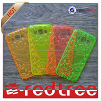 Hot sell colorful soft cellphone back cover clear tpu case for iphone 6 tpu case