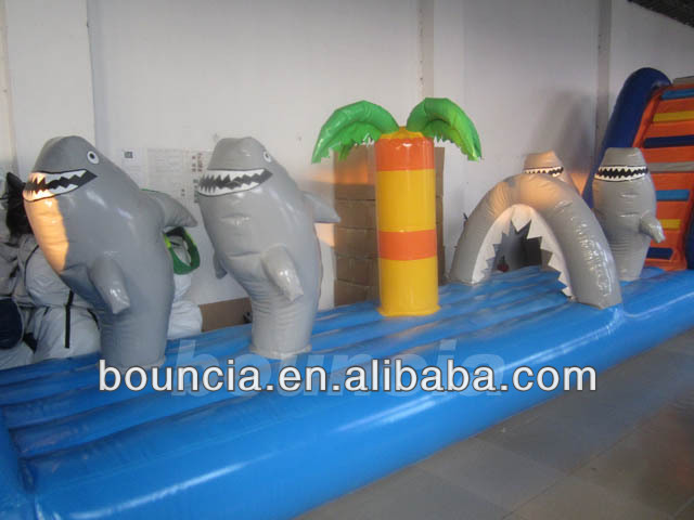 Commercial Grade Inflatable Water Obstacle Course For Pool Or Lake View Inflatable Water