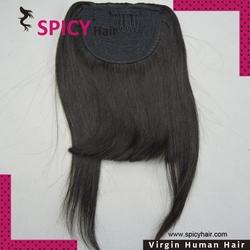 High quality 100% human hair black hair bangs straight hair bangs