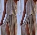 2015 nuevas mujeres la atractiva de moda del color sólido vestido sin mangas irregulares vestido