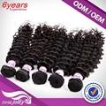 Venta al por mayor malasio de la virgen rizada del pelo, Extensión del pelo afro rizado