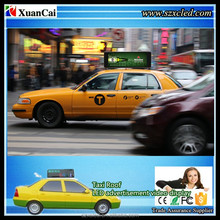 3G full color P5-64x192RGB (985x444x240mm) Video LED taxi Top/Roof advertising LED display sign/module/screen/panel