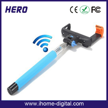 Extendable wireless for all kinds of mobile phones with bluetooth selfie stick