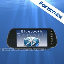 rearview mirror car dvr with bluetooth FM transmitor