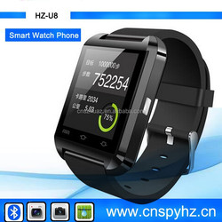$9.8-$11 U8 Watch Phone, Smart Watch Phone ,Cheapest mobile Bluetooth Watch Phone android 1.54 Inch MTK6260 Smart Watch Phone