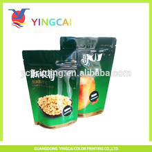 Ziplock reclosable plastic packing bag for food with hanger