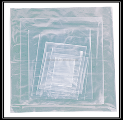 Clear flat ldpe plain plastic bag with open top