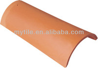 M1505 Highly water resistant Fireproof red clay curved roof tile