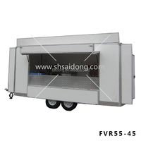 New Style Food Kiosk Van/ Mobile kebab van for hot sale with CE