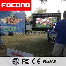 10mm trailer advertising led screen panel outdoor digital mobile led display truck electronic led sign video wall on sale